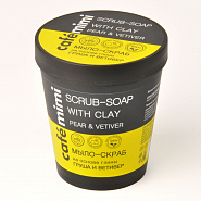 "Body soap-scrub with clay ""Pear and Vetiver"""